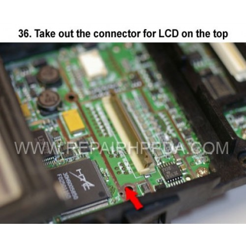 36. Open the LCD Connector to take the LCD flex cable