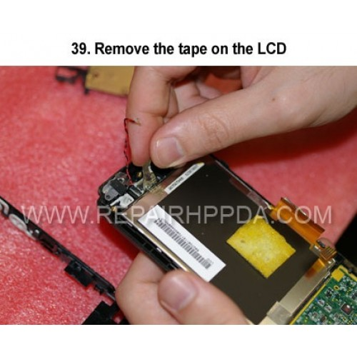 39. Remove the tape on the LCD