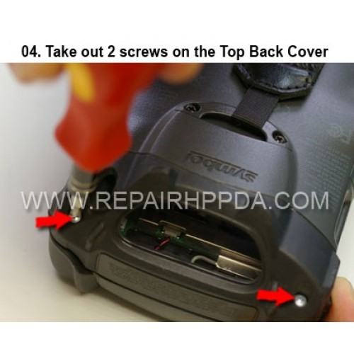 4. Take out 2screws on the Top Back Cover