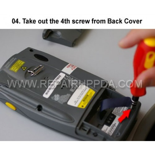 4. Take out the 4th screw from Back Cover