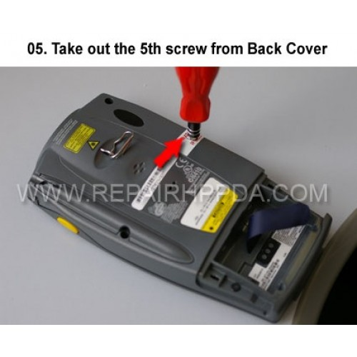 5. Take out the 5th screw from Back Cover