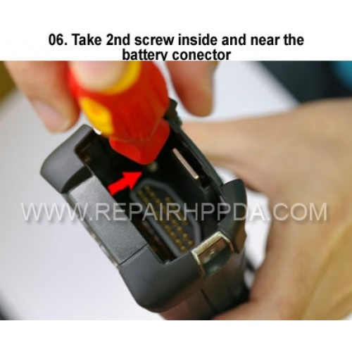 6. Take 2nd screw inside and near the battery connector