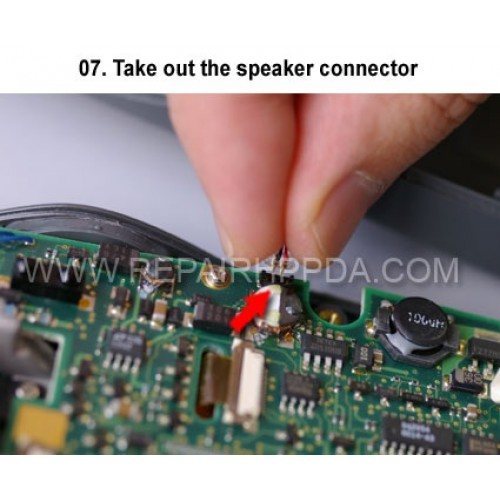 7. Take out the speaker connector