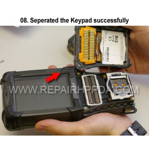 8. Seperated the Keypad successfully