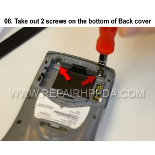 8. Take out 2 screws on the bottom of Back cover
