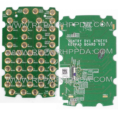 47-Key Keypad PCB Replacement for Symbol MC330K-G